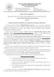 MMN 1 éves tájékoztató levél pót - NYME Apáczai Csere János Kar