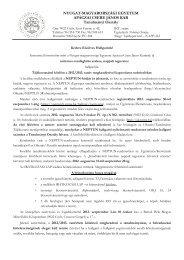 TURAN 1 éves tájékoztató levél pót - NYME Apáczai Csere János Kar