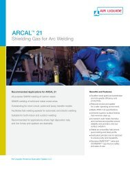 arcal 21 - Air Liquide America Specialty Gases