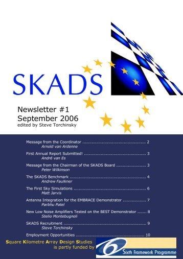SKADS Newsletter #1, September 2006