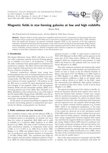 Magnetic fields in star-forming galaxies at low and high ... - skads