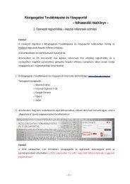 Regisztrációs útmutató szervezeteknek - és Továbbképzési Intézet