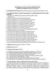 Rendészeti alapképzési szak képzési és kimeneti követelményei
