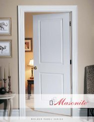 Molded Panel Series - Blackstock Lumber Co., Inc.