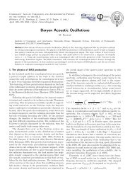 baryon acoustic oscillation