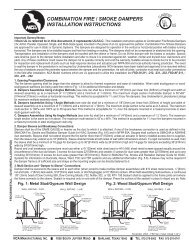 combination fire / smoke dampers installation instructions - NCA ...