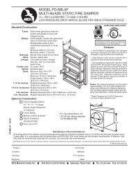 model fd-mb-af multi-blade static fire damper - NCA Manufacturing