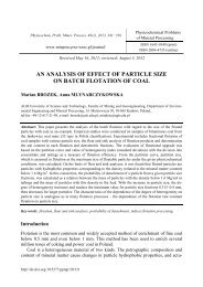 An analysis of effect of particle size on batch flotation of coal