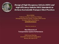 (HOV) and High Efficiency Vehicle - Transport 2000 Canada