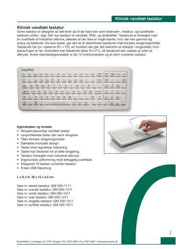 Klinisk vandtæt tastatur Klinisk vandtæt tastatur - GreenPro.com ...
