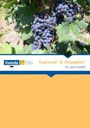Cuproxat® & Champion® - Kwizda