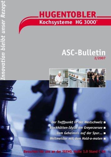 ASC-Bulletin 02/07 - Hugentobler Schweizer Kochsysteme AG