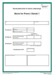 Bevis for Prøve i Dansk 1 - klxml