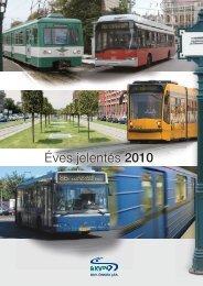 2010. éves jelentés - BKV Zrt.