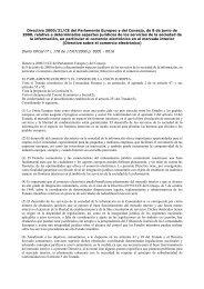 Directiva 2000/31/CE del Parlamento Europeo y del ... - secola