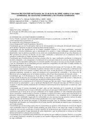 Directiva 90/314/CEE del Consejo, de 13 de junio de 1990 ... - secola