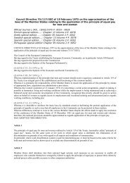 Council Directive 75/117/EEC of 10 February 1975 on the ... - secola