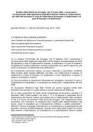 Direttiva 2001/23/CE del Consiglio, del 12 marzo 2001 ... - secola