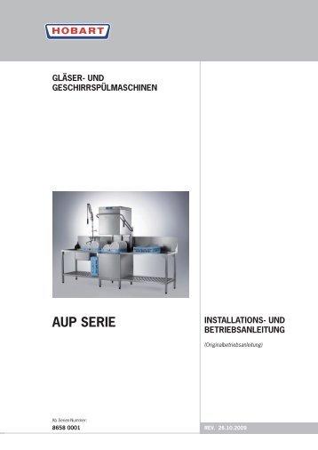 PREMAX AUP (D) - start Serien-Nummer 8658 0001 - HOBART GmbH
