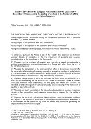 Directive 96/71/EC of the European Parliament and of the ... - secola