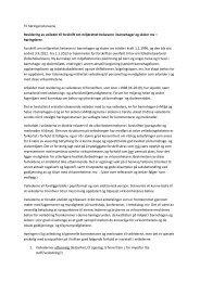 Til høringsinstansene Revidering av veileder til forskrift om ...