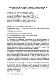 Verordnung (EWG) Nr. 1612/68 des Rates vom 15. Oktober ... - secola