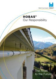 h Our Responsibility The Road to the Future. - Hobas