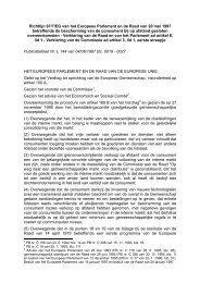 Richtlijn 97/7/EG van het Europees Parlement en de Raad ... - secola