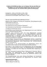 Richtlinie 91/533/EWG des Rates vom 14. Oktober 1991 ... - secola