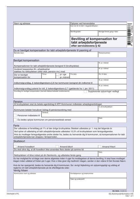 kompensation for tabt arbejdsfortjeneste
