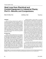 Heat Loss from Electrical and Control Equipment in Industrial Plants ...