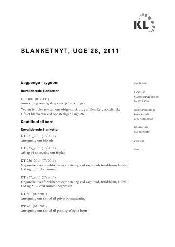 BLANKETNYT, UGE 28, 2011 - klxml