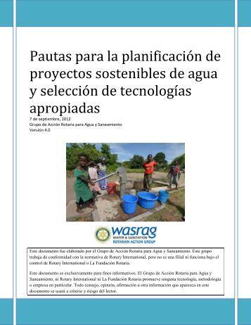 Pautas para la planificación de proyectos sostenibles de agua y ...