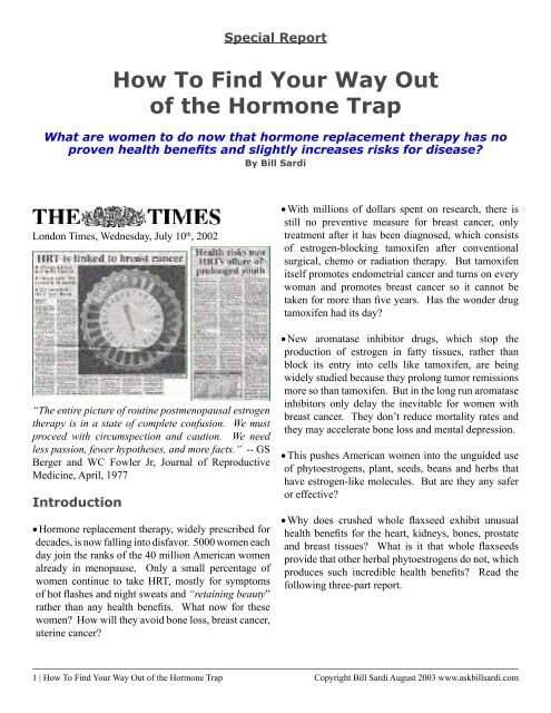 How To Find Your Way Out of the Hormone Trap