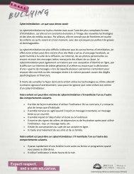 Cyberintimidation : ce que vous devez savoir La ... - ERASE Bullying