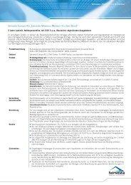 Factsheet Maximus Medium Fix Zero Bond - fairvesta Europe AG