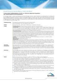 Factsheet Maximus Long Fix Zero Bond - fairvesta Europe AG