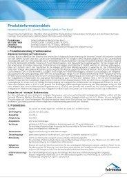 Produkt-Informationsblatt Maximus Medium Flex Bond - fairvesta ...