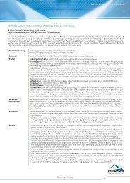 Factsheet Maximus Medium Flex Bond - fairvesta Europe AG
