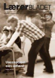 Uacceptabel elev-adfærd - Danmarks Lærerforening