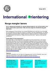 International Orientering, vinter 2013 - Danmarks Lærerforening