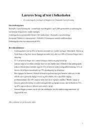 Lærernes brug af test - Danmarks Lærerforening
