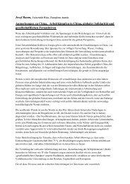 Anmerkungen zu China, Arbeitkämpfen in ... - Dr.Dr. Josef Baum
