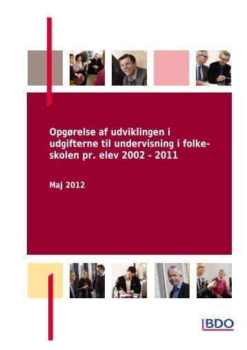 Se BDO´s tabelrapport med de opdaterede tal - Danmarks ...
