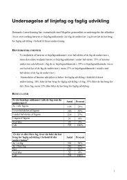 Undersøgelse af linjefag og faglig udvikling - Danmarks Lærerforening