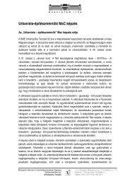 Urbanista-építészmérnöki MsC képzés - Urbanisztika Tanszék