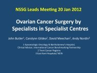 Ovarian Cancer Surgery by Specialists in Specialist Centres