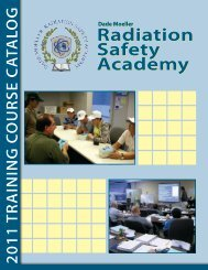 Radiation Safety Academy Radiation Safety Academy - Dade Moeller