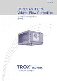 CONSTANTFLOW Volume Flow Controllers - TROX