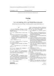 Forslag Lov om ændring af lov om folkekirkens ... - Kirkeministeriet
